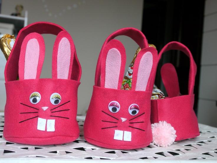 Easter felt baskets