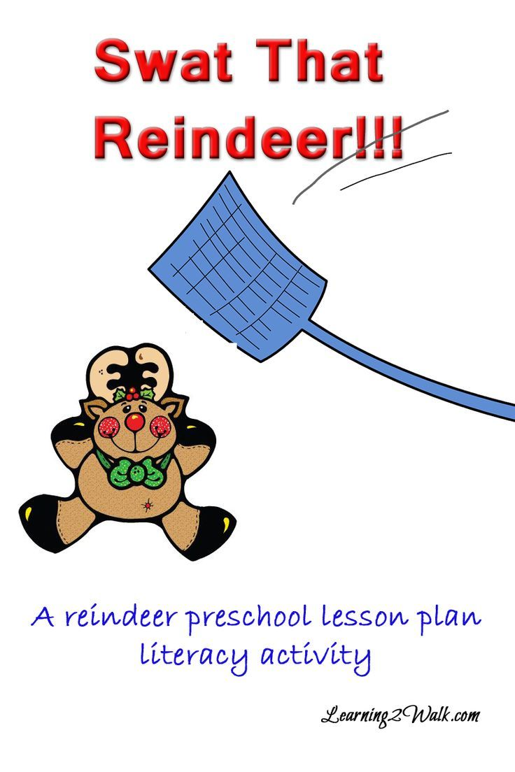 Here is our reindeer preschool lesson plan literacy activity called SMACK THAT REINDEER.