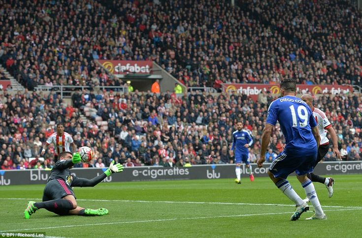 Diego Costa provides an expertly precise finish beyond Vito Mannone to give ...
