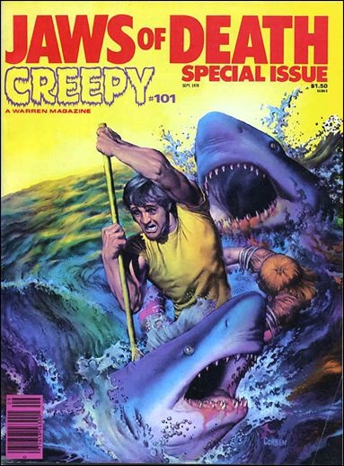 Jaws Book Cover Art : Creepy jaws of death special issue corben cover