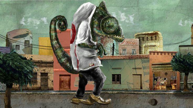 Ilustración animada camaleón  Sebastián Zamorano