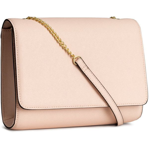 H&M Clutch bag ($13) ❤ liked on Polyvore featuring bags, handbags, clutches, accessories, purses, bolsas, powder beige, handbags purses, beige purse and flap purse