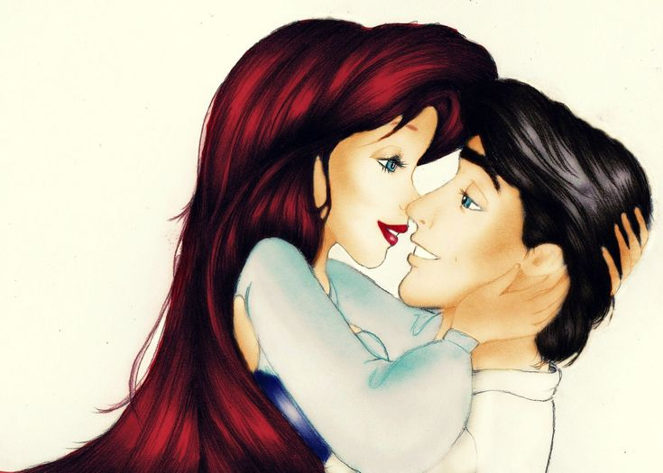 Мультяшная картинка девушка целует парня