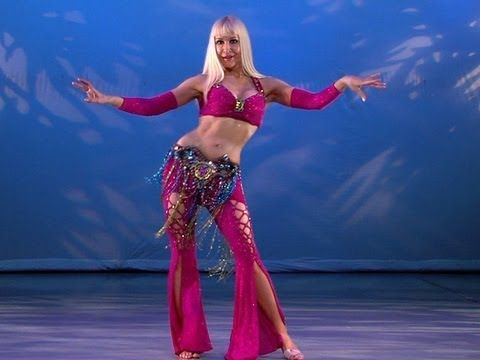 Belly Dance How to: Hip Roll Walk Move - Belly Dancing - with Neon