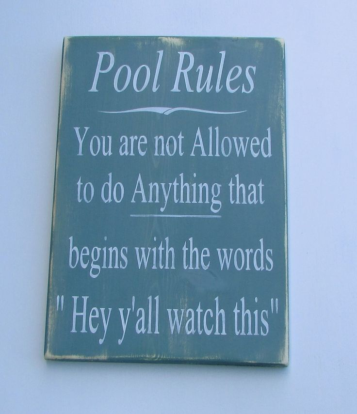 Swimming Pool Plaques Signs Wall Decor: Best 25+ Pool Quotes Ideas On Pinterest
