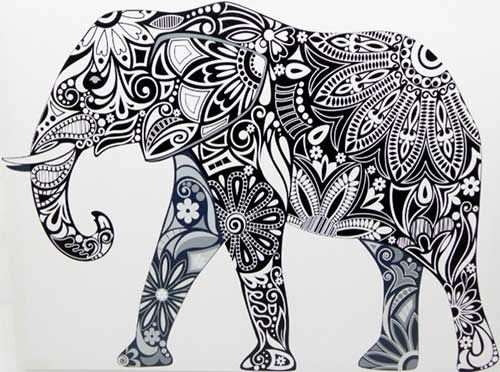 Indian Elephant Tattoo Art