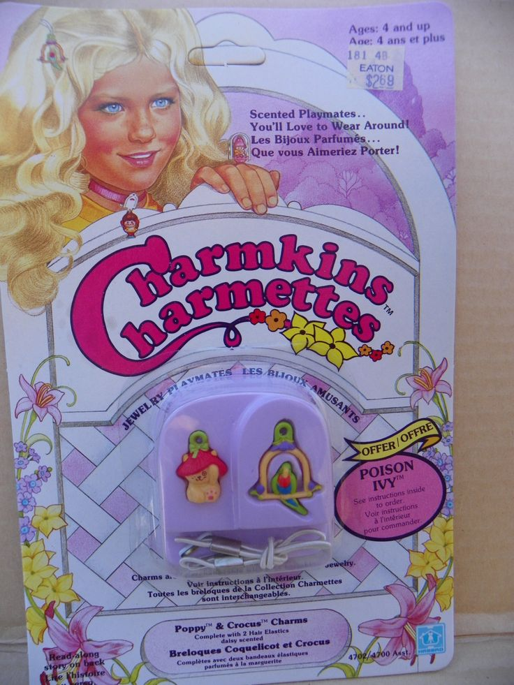 Vintage Charmkins Poppy and Crocus Charm Hair Elastics , 1983 Hasbro Charmkins Poppy and Crocus , Charmkins Scented Jewelry Hair Charm NRFB by ShersBears on Etsy