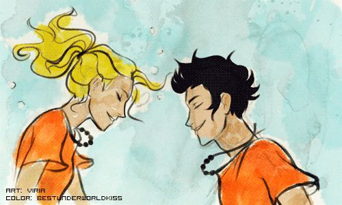 It was pretty much the best Percy and Anabeth underwater kiss of all time art | colored