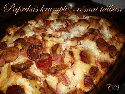 Paprikás krumpli – római tálban | Recept | Gasztrotipp