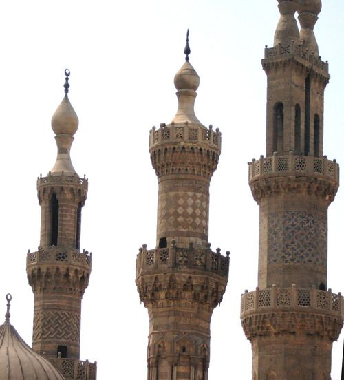 Pin By Adil Taj On Ceiling In 2019: Three Minarets At The Al-Azhar Mosque In Cairo, Egypt