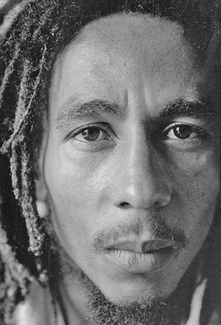 """Bob Marley- '74'...the performer that got shot, disregarded the pain and still performed- saying """"the bad guys aren't taking time off"""""""