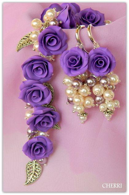 """Conjuntos de joyas """"noche de gala"""".  Hecho a mano."""