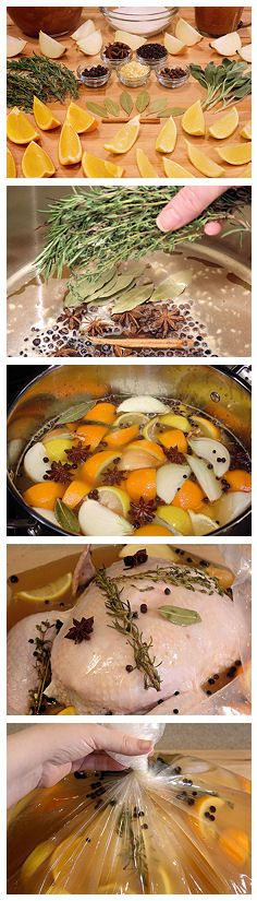 Apple Cider & Citrus Turkey Brine w/ Herbs & Spices | Dbl-click pic for instruction, #recipe. #Thanksgiving #Glutenfree
