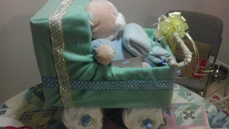 Boy Diaper Carriage by GiftBasketsbyMel on Etsy