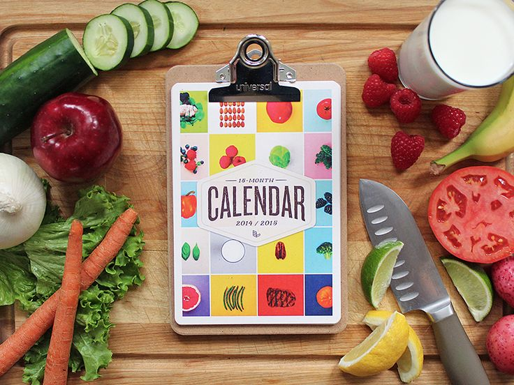 Dribbble - 2015 Food Calendar by Eric Liles