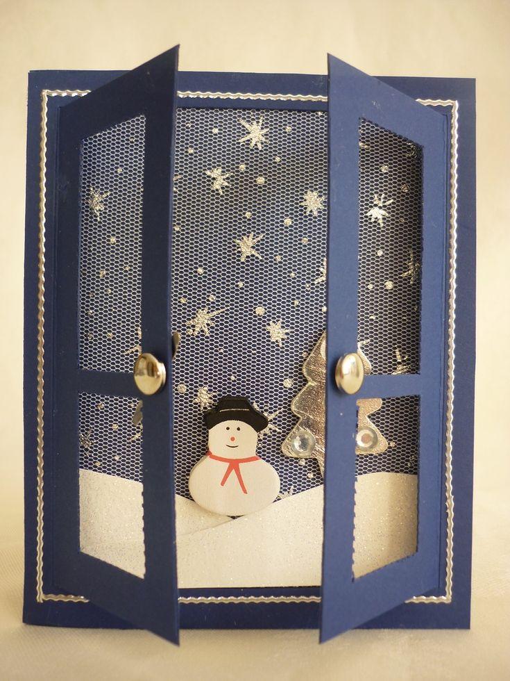 Snow scene Window card - bjl