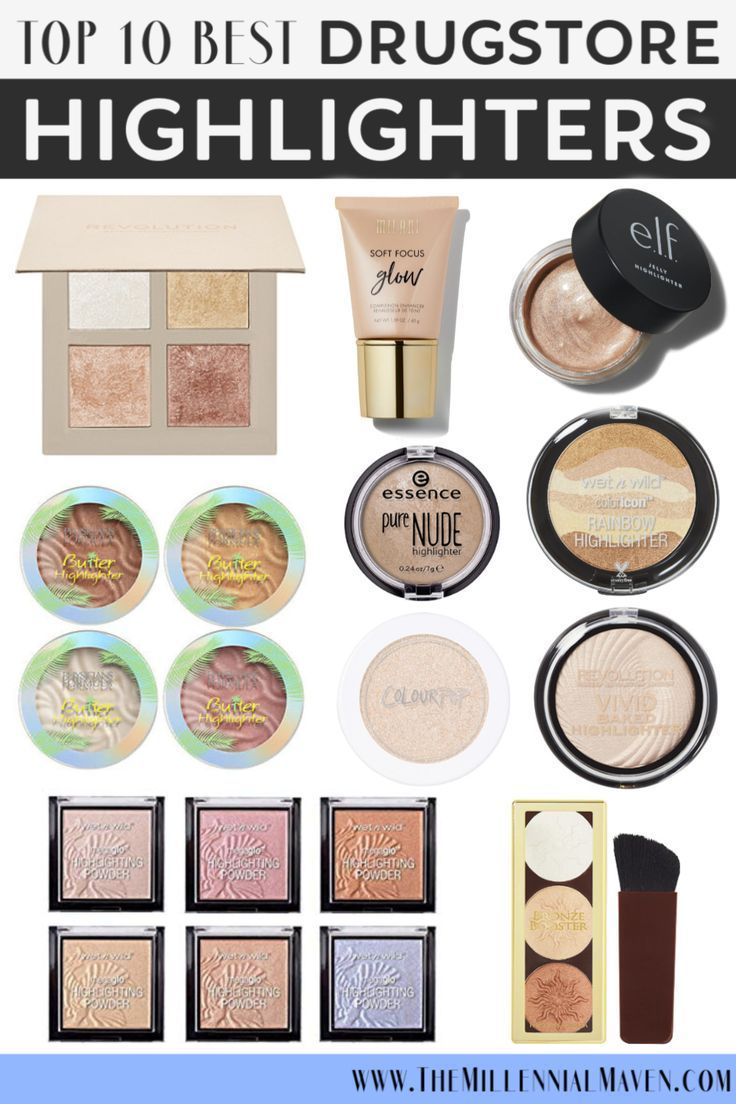 Top 10 Best Drugstore Highlighters Best Drugstore Makeup 2019 The Millennial Maven Sweat Proof Makeup Best Drug Store Highlighter Best Drugstore Makeup