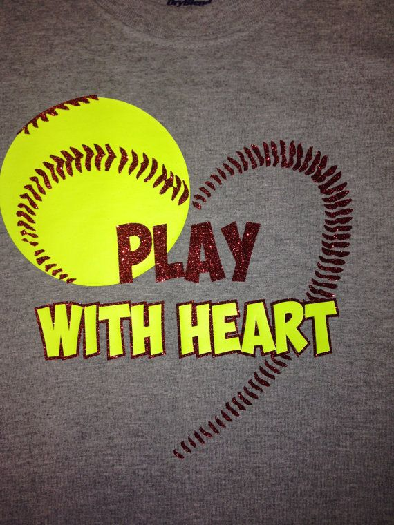 Hey, I found this really awesome Etsy listing at https://www.etsy.com/listing/176450274/custom-softball-heart-shirt