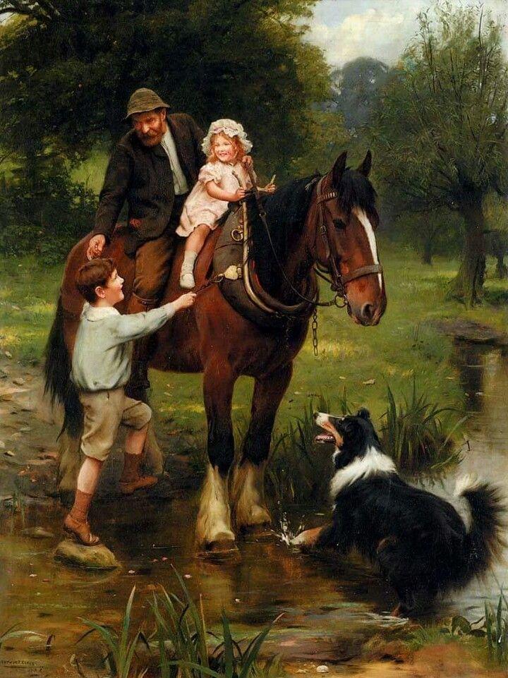 Arthur John Elsley Pintor Ingles Arte Figurativa Pintura De