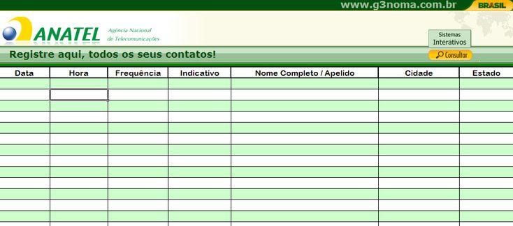 PLANILHA DE REGISTRO QSO´s | RADIOAMADOR – Portal do Radioamador