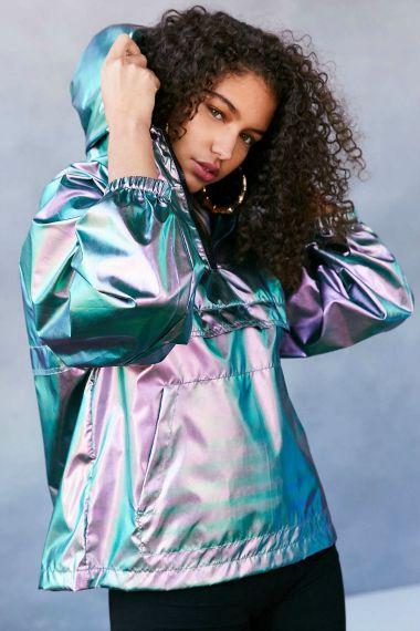 Who doesn't need an iridescent rain jacket?
