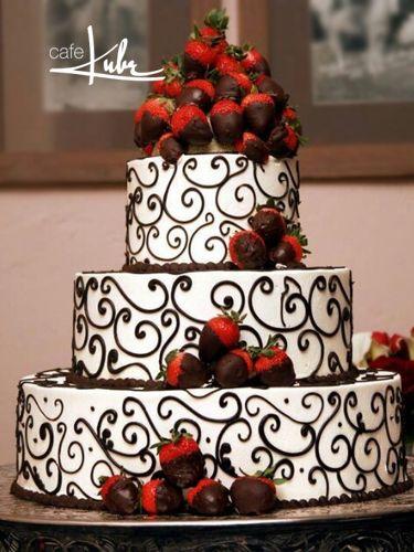 Svatební dorty, Narozeninové dorty Zdeňka Nedvědová - Svatební dorty - dort exklusiv č. 95