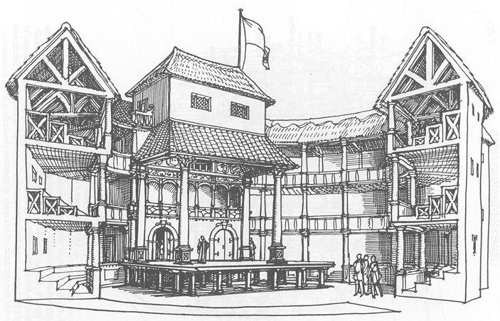 Elizabethan theatre diagram
