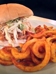 Buffalo Chicken Burger with Blue Cheese Coleslaw www.theglasgowscullery.com