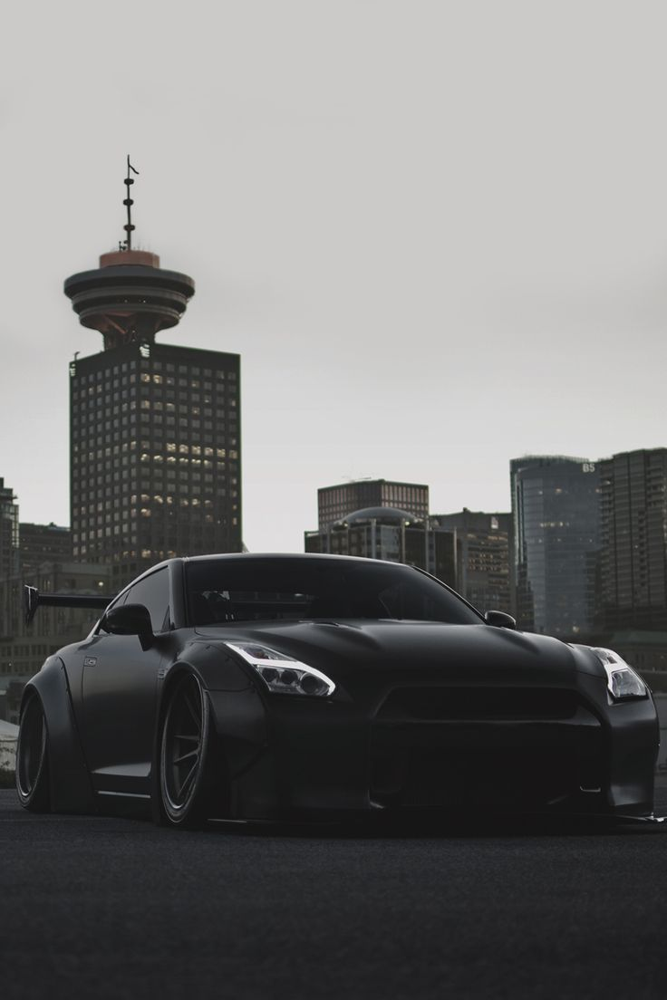 Mean blacked out LibertyWalk widebody Nissan GT-R