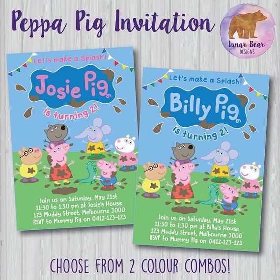 Peppa Pig Invitation Peppa Pig Big Splash Peppa Pig