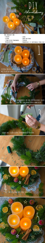 DIY Adventskranz mit LED Echtwachskerzen https://www.tectake.de/4-led-echtwachskerzen-mit-fernbedienung