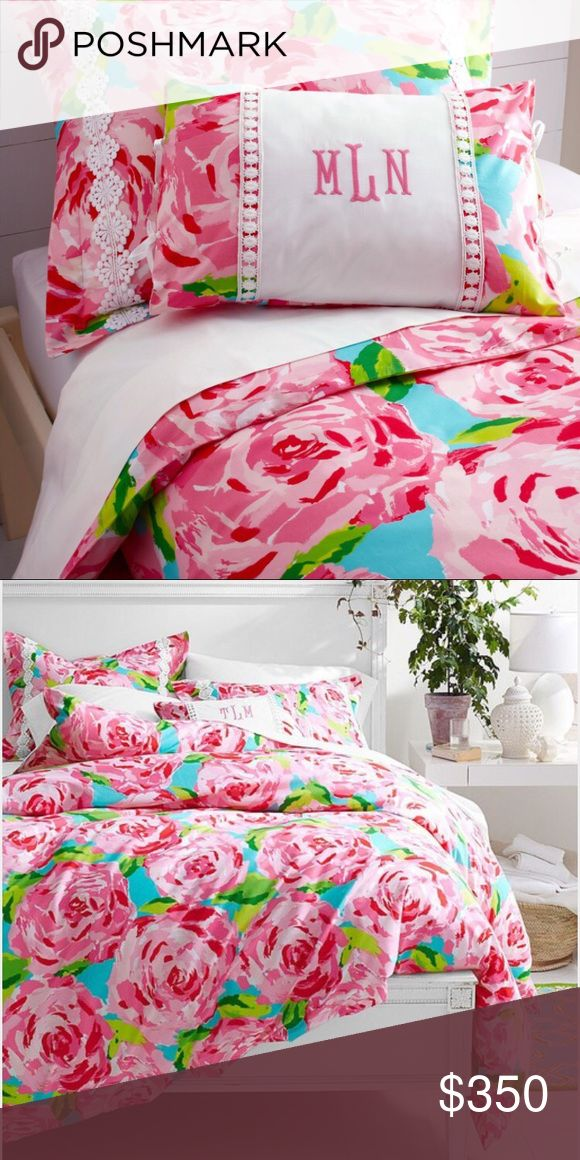 Brand New Garnet Hill Lilly Pulitzer Duvet cover NEVER USED! bought two just in case for college, twin size, duvet cover, not sold anymore, it has been recently dry cleaned since I am selling it. Lilly Pulitzer Other