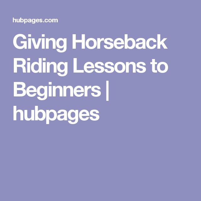 Giving Horseback Riding Lessons to Beginners | hubpages