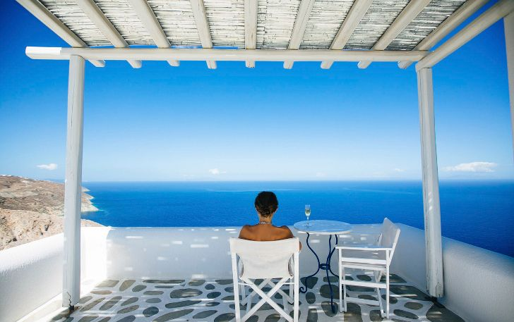 Греческий отель в традиционном кикладском стиле - Home and Garden