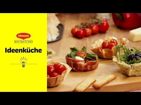 Muffinblech verkehrt = Essbare Schälchen | MAGGI Ideenküche - YouTube