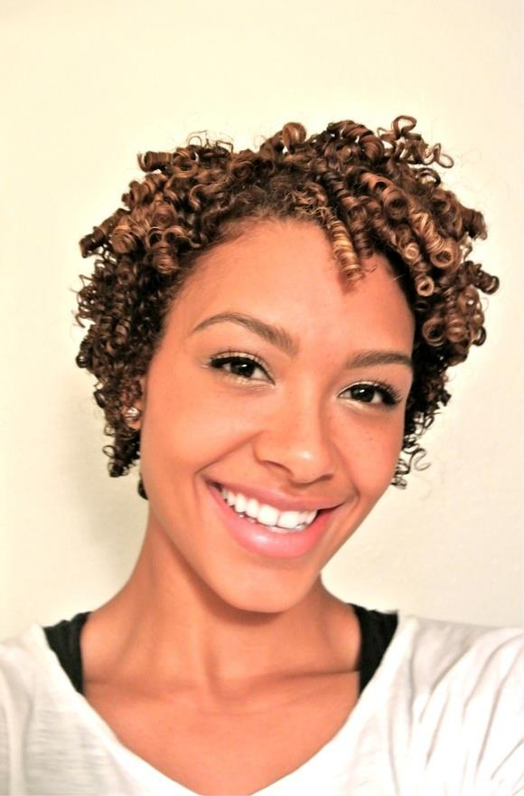 how to make straw curls on short natural hair