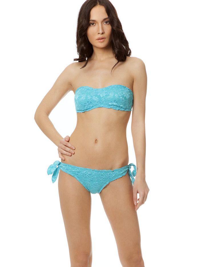 MAYA LACE FASCIA AZZURRO #paradisebeachwear #bikini #beachwear #style #fashion #sun #sea #beach #fun #love #friends #woman #apparel #summer #pizzo #lace #blue #azure #blu #azzurro