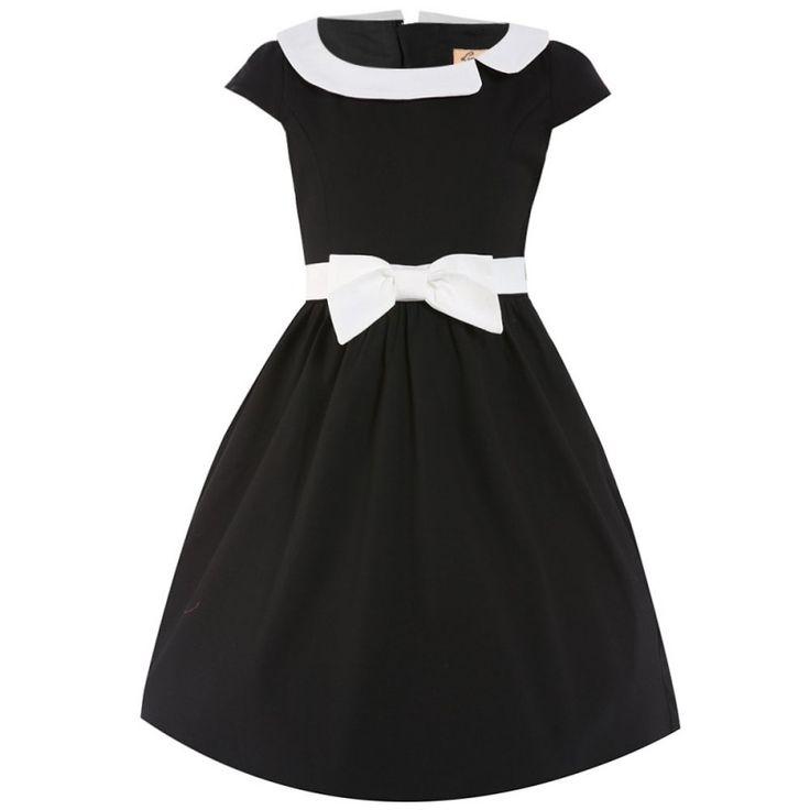 Dívčí Černé Retro Šaty Blanka Straka Lindy Bop