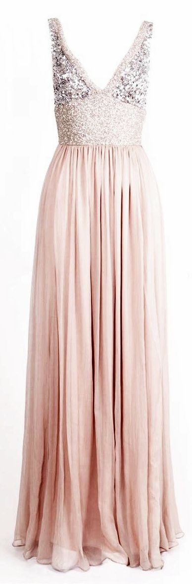 Pink & Silver Sparkly Dress @Connie Newell @Michele Clary I want all my bridesmaid in this dress....purple & gold