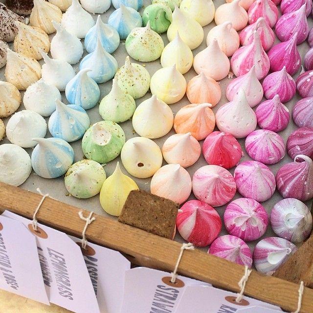 Move over macaroons, rainbow meringues are a must have!  we ❤ this!  moncheribridals.com   #meringueweddingcookies #weddingdesserts #weddingsweets