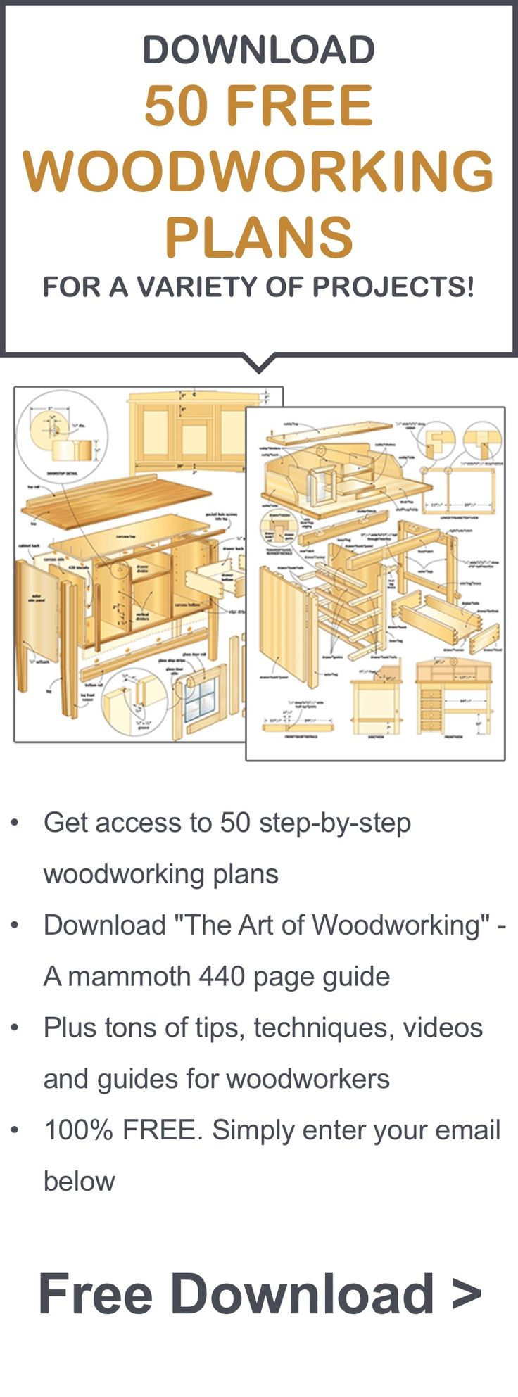 50 Free Woodworking Plans