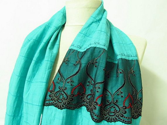 oversized scarf mint scarf infinity scarf circle by asuhan on Etsy, $20.00