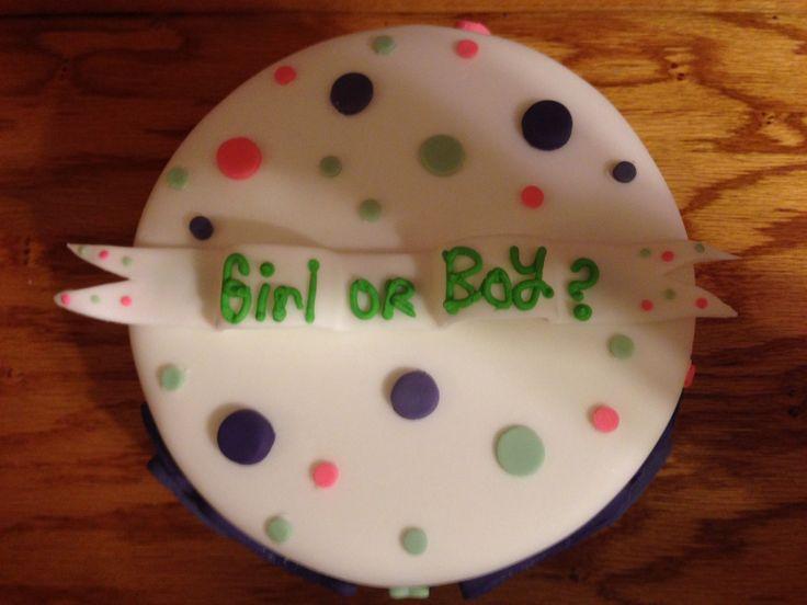 Gender Reveal Cake www.facebook.com/scbyamanda