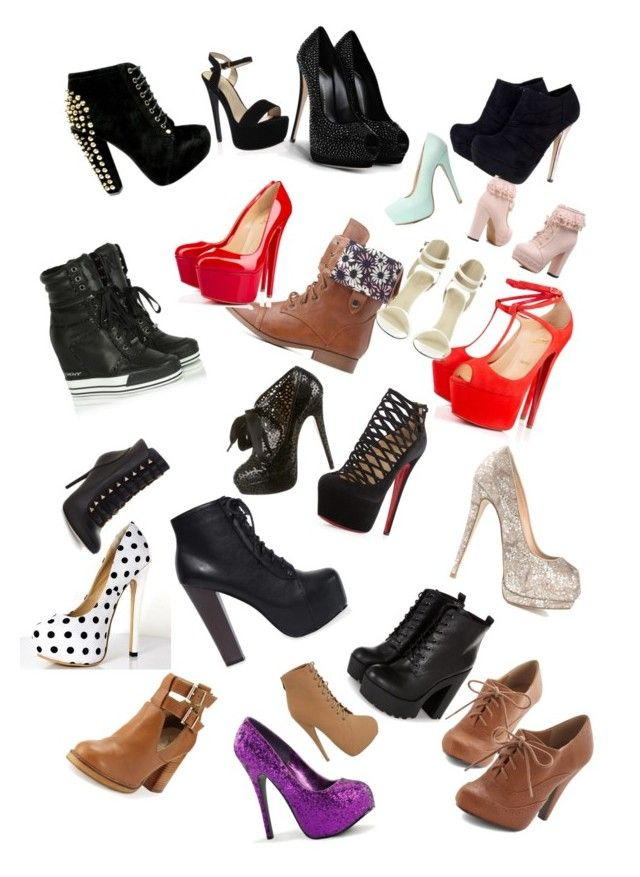 Shoes that I love by aysiastyle on Polyvore featuring polyvore fashion style DKNY Christian Louboutin Charlotte Russe Giuseppe Zanotti Seychelles Charlotte Olympia BCBGMAXAZRIA clothing