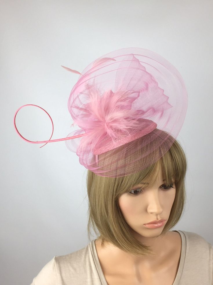 A personal favourite from my Etsy shop https://www.etsy.com/uk/listing/522567647/pale-pink-fascinator-with-pleats-of-crin