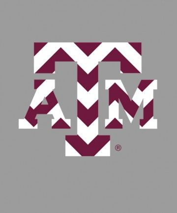 This decal features the block atm in a chevron pattern put on your car your laptop or anywhere you want to show off your fightin texas aggie spirit