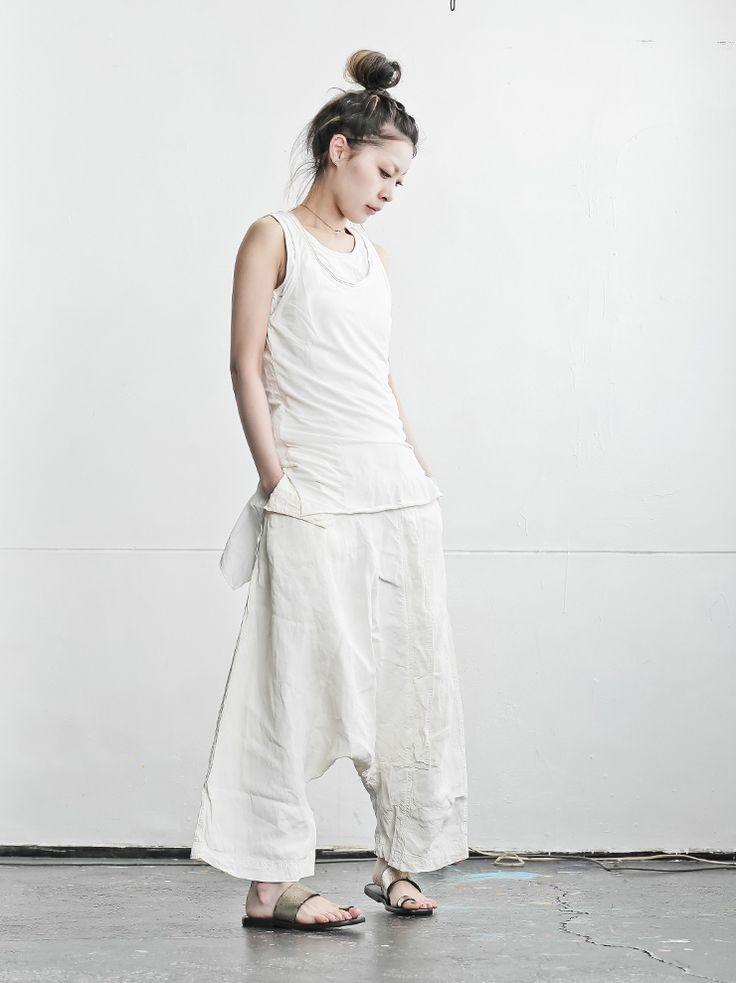 【RUNDHOLZDIP】タンクトップsahneprint