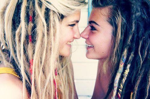 dredy, dredy, vlasy, účes, hippie, lesby, zamilovat, styl