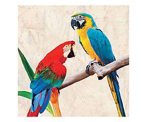 Stampa fine art su canvas con telaio in legno Lovers - 70x70x4 cm