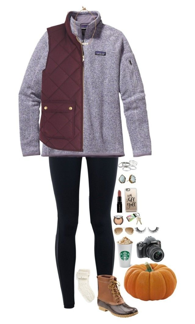 """Pumpkin Patch // Day 2"" by maxilicious ❤ liked on Polyvore featuring NIKE, Patagonia, J.Crew, Smashbox, Ray-Ban, UGG, Lead, L.L.Bean, Kendra Scott and Casetify"